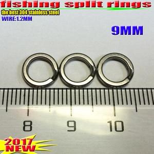Image 3 - 2019HOT fishing split rings 4.5 MM 17.2 MM akcesoria wędkarskie ilość: 100 sztuk/partia high quality304 ze stali nierdzewnej wybierz rozmiar!!!