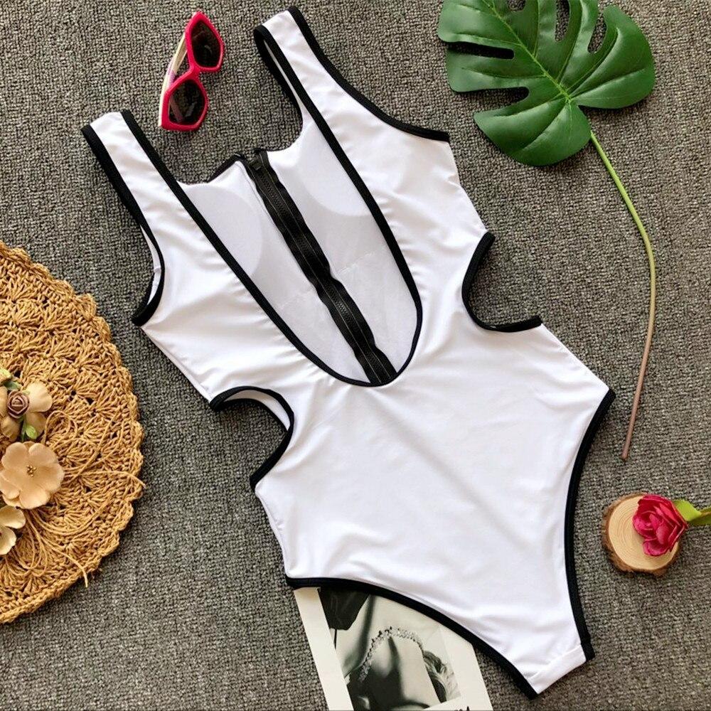 Zipper Bodysuits One-pieces Swimsuit 11