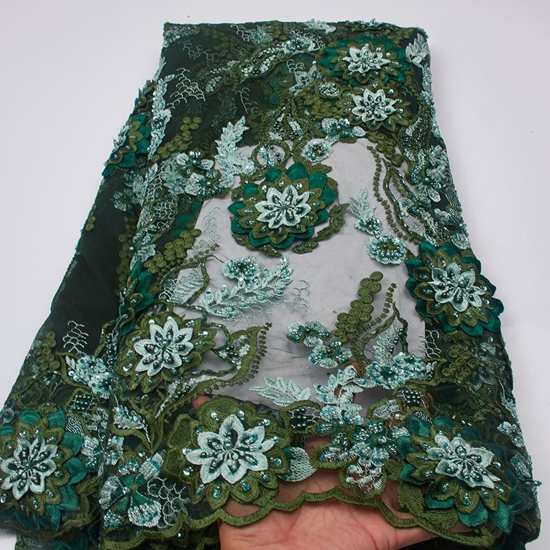 Tissu خطاباتخطابهزوجات Africain الأخضر ، نيجيريا اليدوية الدانتيل النسيج 2019 شمسيّة دانتيل عالية الجودة ، الفاخرة الدانتيل النسيج لفستان الزفاف MR2599B-في دانتيل من المنزل والحديقة على  مجموعة 1