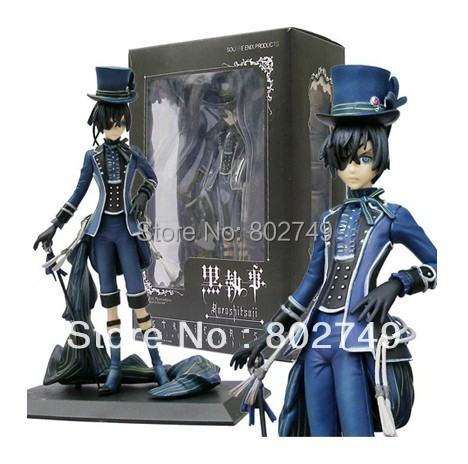 Japan Anime Kuroshitsuji Black Butler Ciel Phantomh PVC Action Figure 20CM For Christmas Gift New In Box