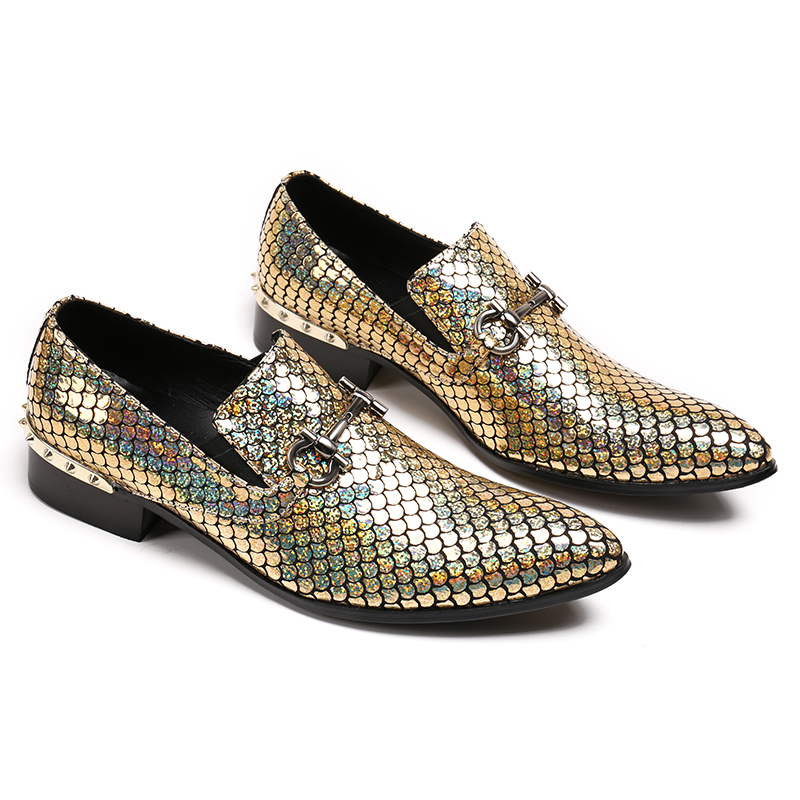 brand New gold handmade men loafers men fashion leather shinny glitter wedding dress shoes mens flats size US12brand New gold handmade men loafers men fashion leather shinny glitter wedding dress shoes mens flats size US12