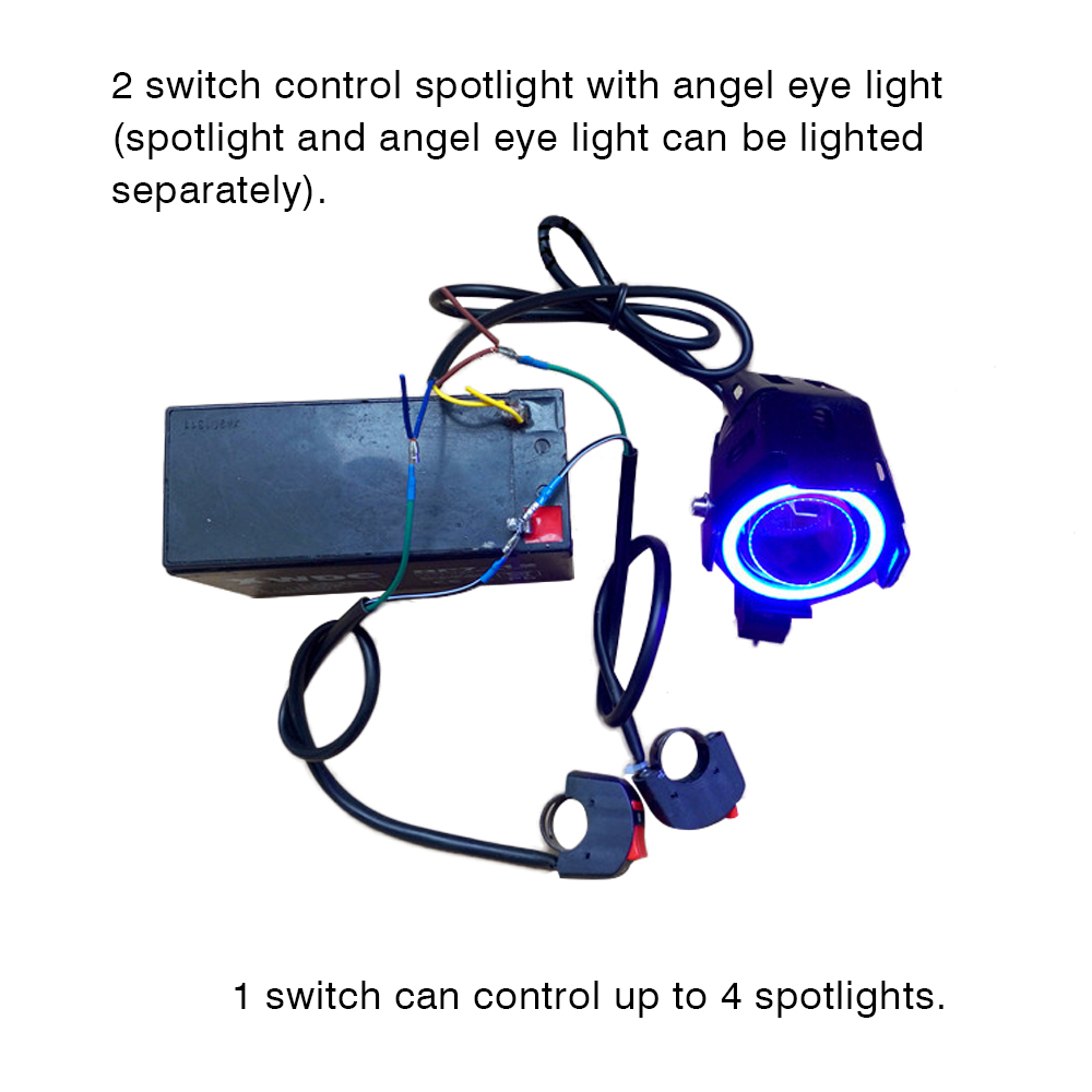 Universal Handlebar Motorcycle Switch On Off For U5 U7 U2 Headlight Led Angel Eyes Light Kill Stop In Switches From