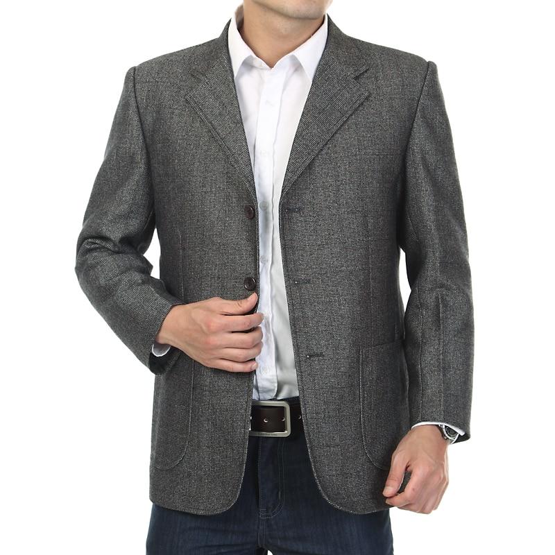 Male casual suit male three button suits mens blazer masculino jaqueta autumn quinquagenarian font b men