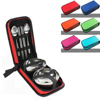 Portable lunch box  Bento Box set outdoor picnic travel food container folding lunchbox cutlery set food thermos organizer|Lunch Boxes| |  -
