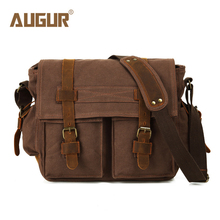 AUGUR Vintage Men Messenger Bags Canvas Men Bag Crossbody Bags for Men Satchels Cover Luxury Brand Shoulder Bag Handbags