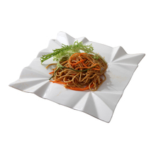 Ceramic white dish High quality dishes and plates Square tableware creative salad snack dishes noodles bowl dinner plates