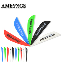 60pcs Arrow Feathers 2/3/4inch Drop Shape Rubber Fletches Arrow Shaft For Shooting Outdoor Hunting Sports Archery Accessories 50pcs archery 2inch rubber feather arrow feathers drop shape fletches for outdoor bow and arrows hunting shooting accessories