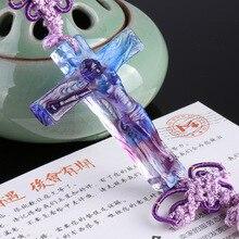 Cross car pendant  glass decorationreligious supplies Christian Jesus christian decor
