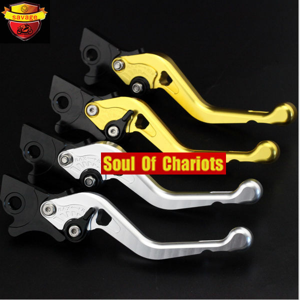 ФОТО Motorcycle Accessories CNC Billet Aluminum Left & Right Brake Levers For Piaggio 50 NRG Power / Vespa S50 Gold/Silver