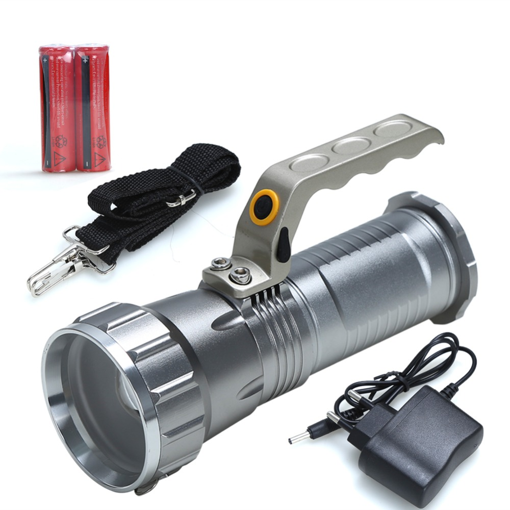 Searchlight Flashlight Cree T6 Led Rechargeable Torch camping light miners lamp spelunking Underground work+18650 Battery+Charge high power cree led hand lamp focus adjustable outdoor camping searchlight waterproof rechargeable hand lamp by 2 18650 torch