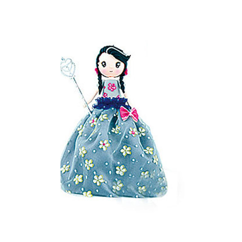 ФОТО 1 Piece New DIY Toys Playdough Princess With Deep Blue Flower Dress Material Package For Girls Colored Clay Super Light Clay