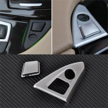 CITALL New Chrome Center Console Panel Armrest Button Trim For font b BMW b font 5