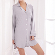 New Arrivals Modal Nightgowns Soft Home Dress Sexy Nightwear Women Sleepwear Solid Sleep Lounge Vintage Nightgown Female #H115
