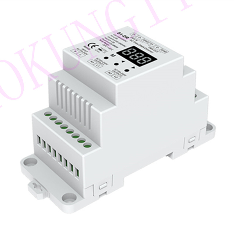 2CH*1.2A AC Phase-cut DMX Dimmer S1-DR DMX512 Decoder SCR DMX512 Decoder Engineering Decoder AC100V-240V DIN Rail DMX 512 Dimmer