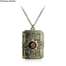 Wholesale 20pc/lot High Quality 3D Game Pendant Necklace Top Vintage Bronze Necklace Men jewelry for free delivery