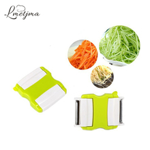 LMETJMA 2 in 1 Vegetable Graters Stainless Steel Carrot Salad Graters Fruit Peeler Cucumber Slicers Potato Zesters PY0050