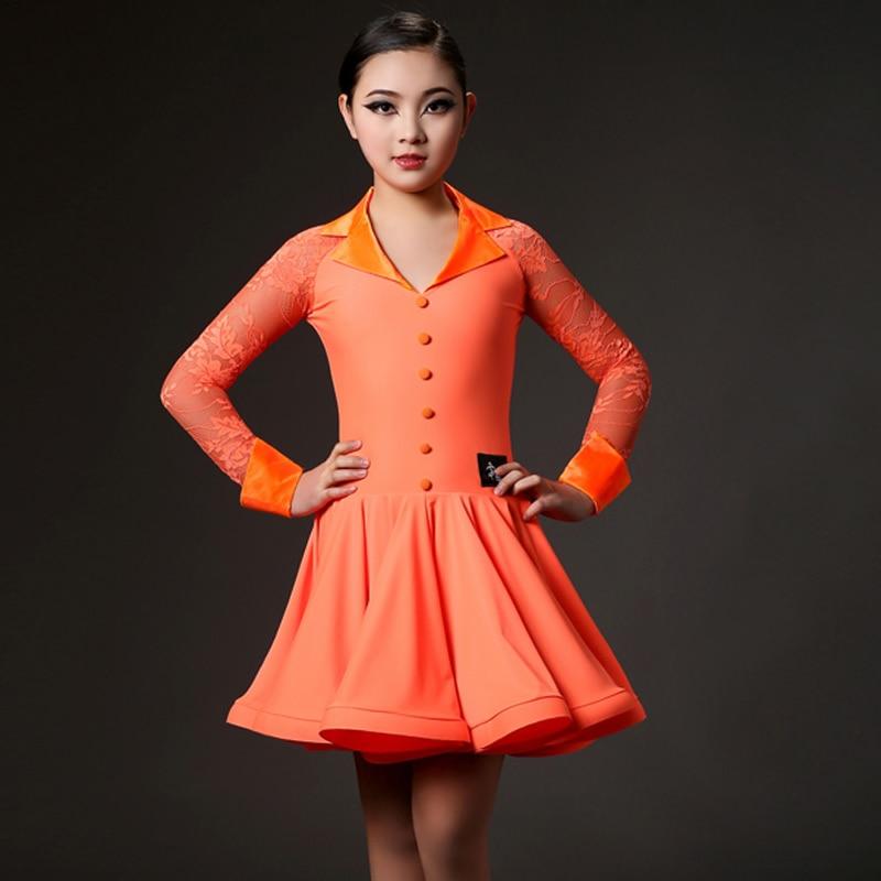 Picture of Kids Latin Dresses Modern Dance Costumes For Kids Latin Dress Girls Clothes For Dancing Samba Rumba Salsa Dance Dresses Fringe