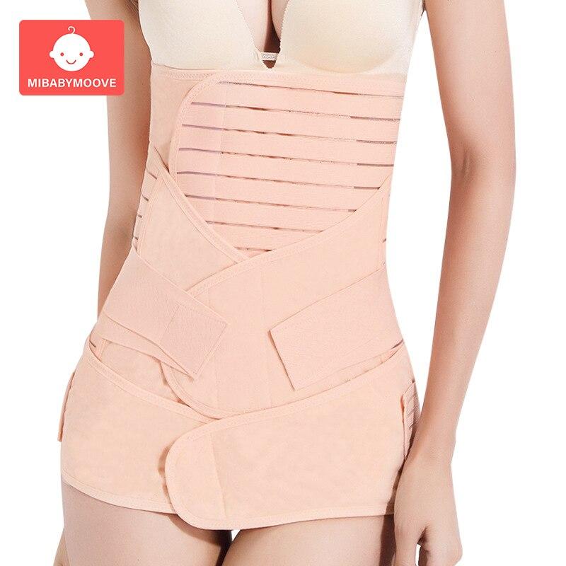 3in1 Postpartum Belt Belly Abdomen Pelvis Body Recovery Shapewear Postpartum Bandage Slimming Body Shaper Waist Trainer Corset