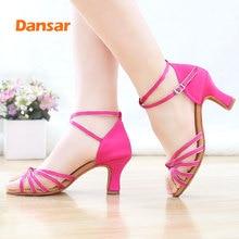 цены на Hot selling Women Professional Dancing Shoes Ballroom Dance Shoes Ladies Latin Dance Shoes heeled 5CM/7CM  в интернет-магазинах