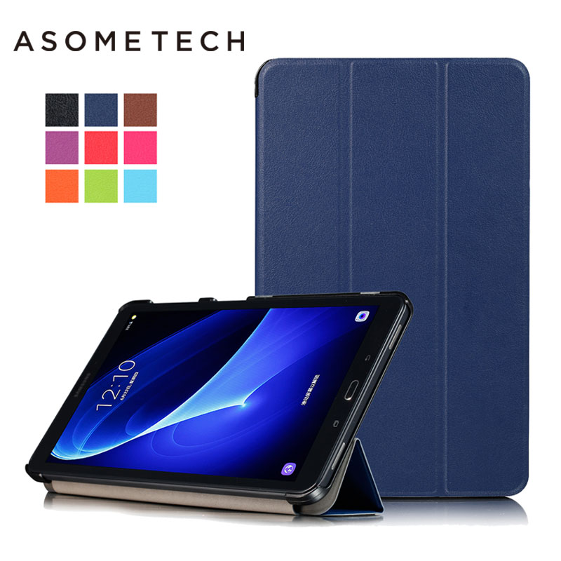 Magnetic stand PU leather Fundas for Samsung Galaxy Tab A 10.1 2016 T585 T580 SM-T585C T580N Folio Protective Cover case +stylus
