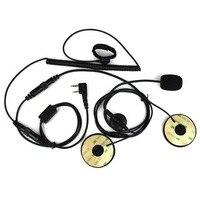 2 핀 손가락 PTT 오토바이 헬멧 라디오 헤드셋 마이크 Kenwood BAOFENG TYT 햄 라디오 무전기 C2160A