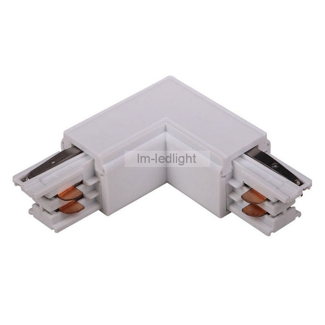 Black Wire Track Lighting: 4 Wire 3 Phase LED Track Lighting Rail L Corner Connector