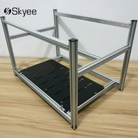 S SKYEE Non Stackable Open Air Mining Rig Frame Miner Case For 6 GPU ETC BTH