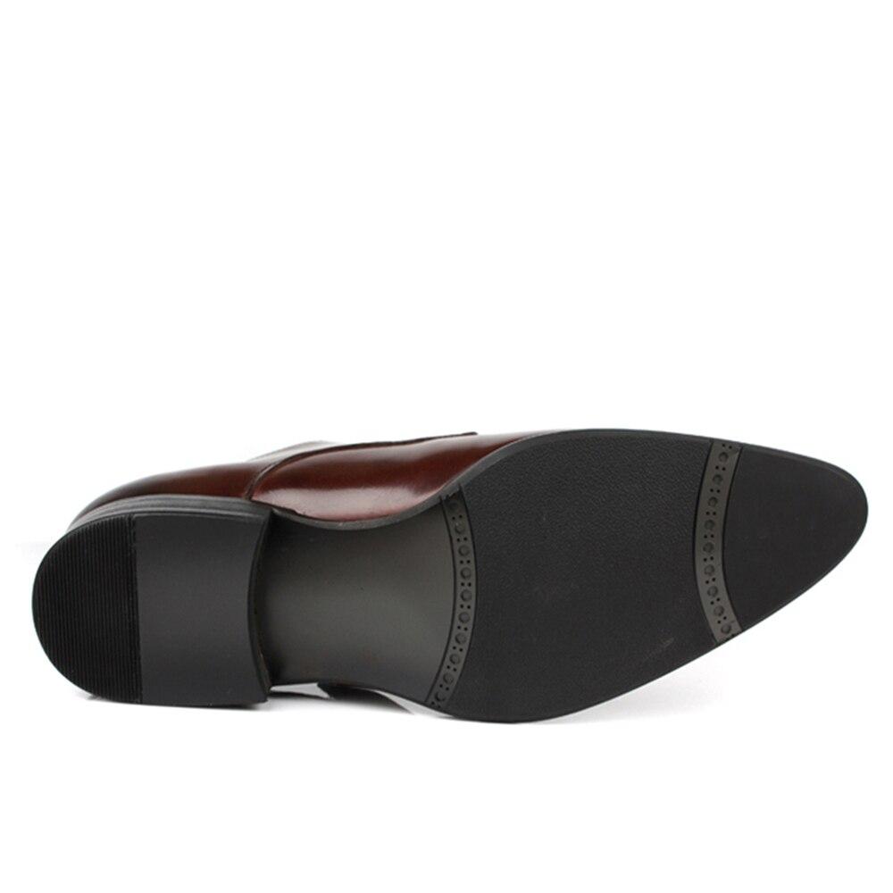 marrón Gancho Vestido Negro Lazo Hombres Negocio Venta Con Mens De Cuero Cocial Estrecha Plana Borgoña Punta Y Caliente Zapatos Casual Sipriks OPwRq