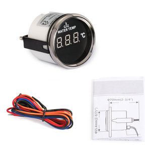 Image 5 - Digital Temperature Gauge For Car Thermometer 52 MM round mini Water temp Meter Indicator Car Boat With Back light turbo boost