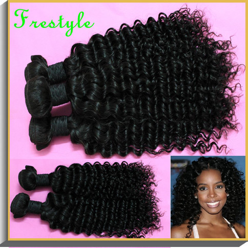 , virgin remy indian deep wave spiral kinky curly hair weave,#1b natural black,1kilo/ lot 12 inch-28 inch - Frestyle human (Factory price store)
