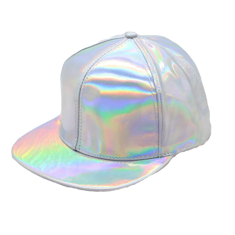 Silver Laser Baseball Caps Spring Fashion Hip Hop Snapback Hats Adjustable Rainbow Baseball Caps For Men Women Men Accessories