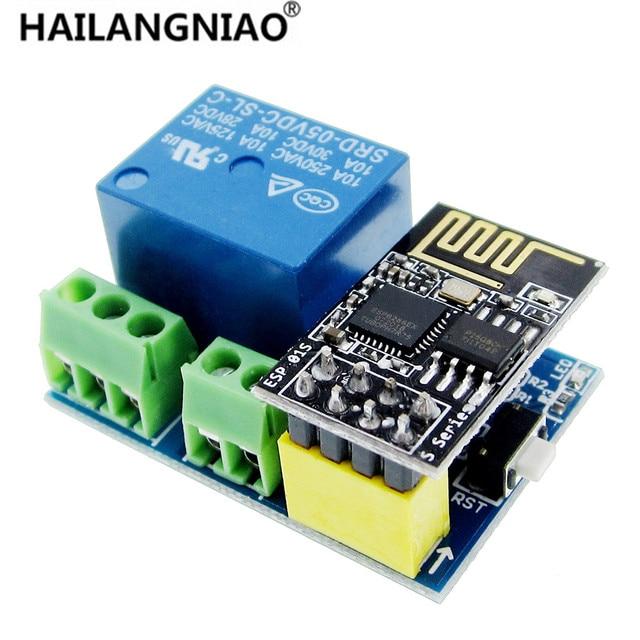 ESP8266 ESP-01S 5 V módulo de relé WiFi cosas interruptor de Control remoto de hogar inteligente para la aplicación de teléfono ESP01 módulo WIFI inalámbrico