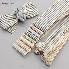 Kewgarden 40 мм 10 мм двухцветная полоса атласные ленты DIY Бант хлопок лента вручную изготовленная лента аксессуары для одежды Riband 6 ярдов