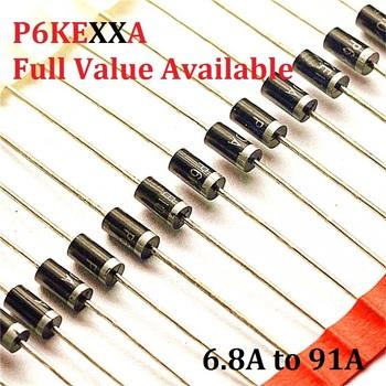20 sztuk P6KE6 8A P6KE6A8 P6KE10A P6KE12A P6KE13A P6KE15A P6KE16A P6KE18A P6KE24A 6 8A 10A 12A 13A 15A 16A 18A 24A dioda tvs P6KE tanie i dobre opinie YUFO-IC Dioda prostownika Nowy Przez otwór
