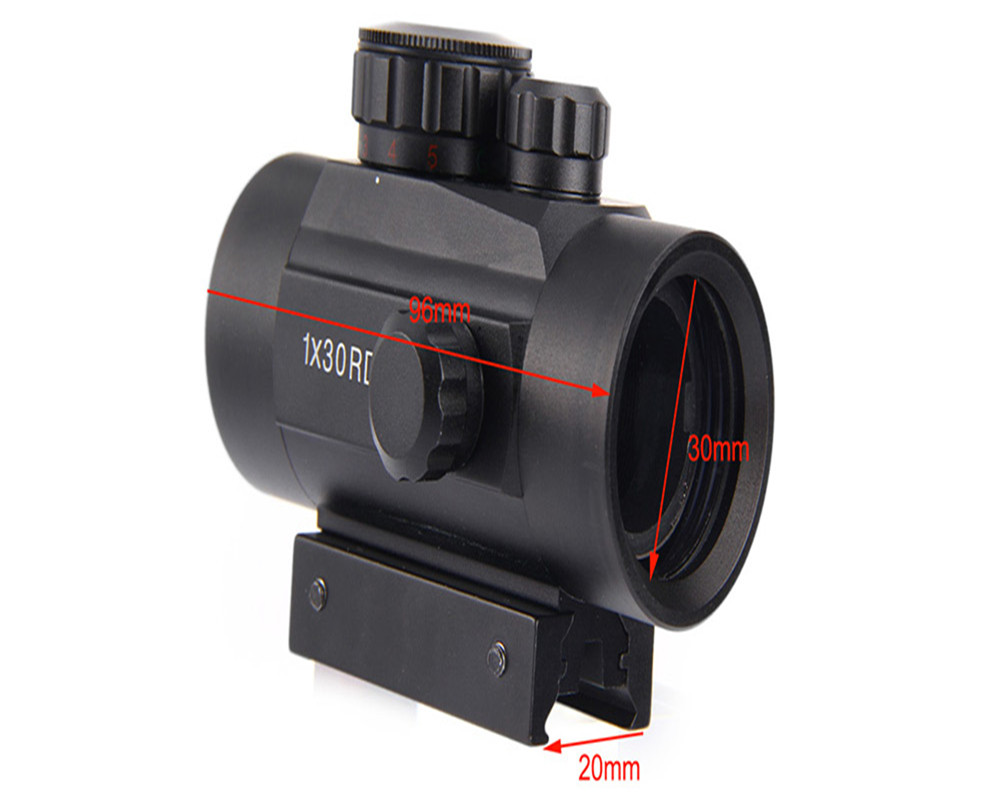 Holographic Red Dot Riflescope Tactical 30mm Lens Sight Scope Hunting Red Green Dot for Shotgun Rifle 20mm Rifle Airsoft Gun New