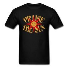 Praise The Sun T-shirt Men Black Tshirt Dark Souls 3 Game T Shirt Sunset Starry Sky Painting Tees Cotton Father Oversized Tops L