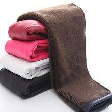 Большая распродажа; зимние леггинсы из искусственной кожи для девочек; теплые леггинсы с цветочным принтом; сезон осень-зима; плотные брюки; брюки для детей 3-10 лет