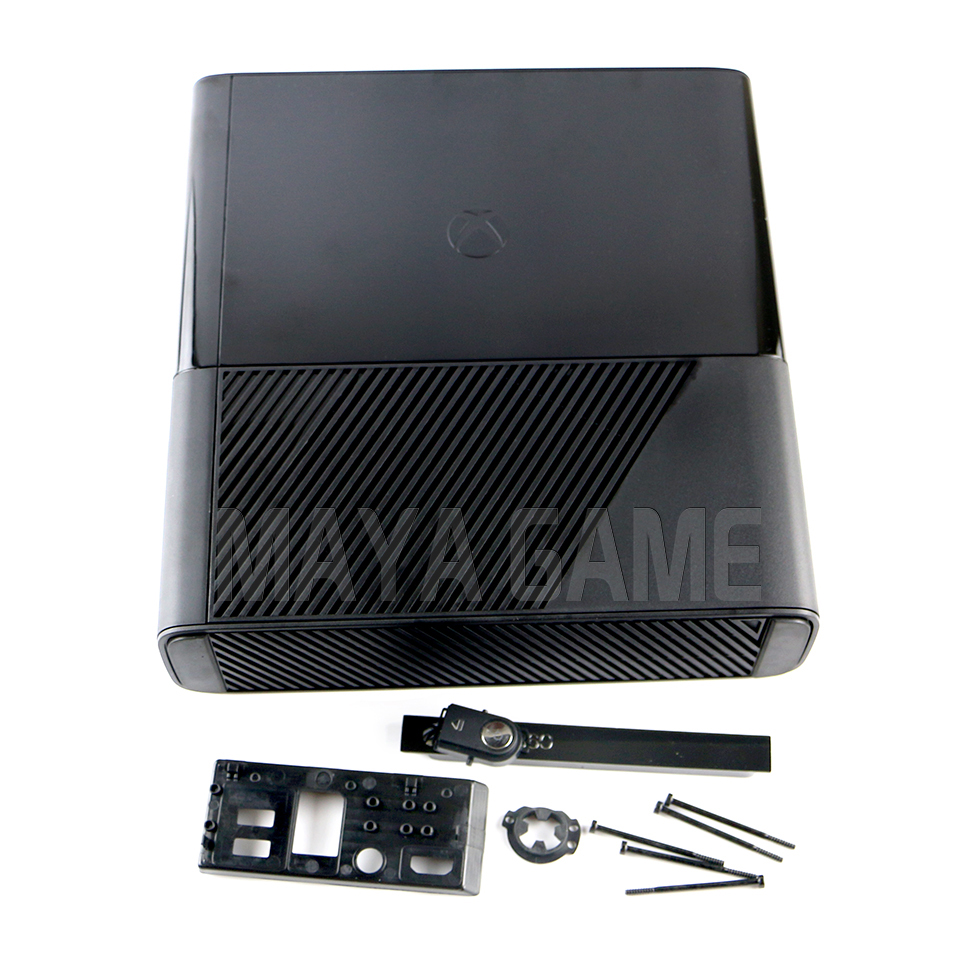Full protective house Housing Shell Case for XBOX360E XBOX360 E Slim console system Black       - title=