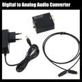 Цифровой оптический коаксиальный toslink-аналоговые сигнал аналогового аудио конвертер адаптер RCA L / R с 3.5 мм джек выход ес и сша подключить адаптер питания
