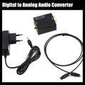 Digital Coaxial óptica de Toslink señal a analógico adaptador convertidor de Audio RCA L / R con 3.5 mm Jack de salida de la ue y ee.uu. Plug Power adaptador