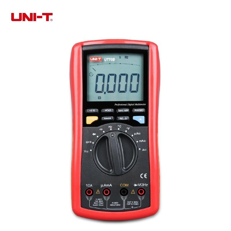 UNI-T UT70B Modern Digital Multi-Purpose Meters Resistance Capacitance Frequency Temperture DMM Auto Ranging Multimeter uni t ut60b modern auto ranging data hold dmm digital multimeters w capacitance