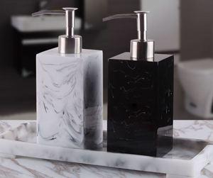 Image 1 - Creative Resin Soap Bottle Hotel Marble Shampoo Dispenser Press  Hand Sanitizer Bottle Soap Dispenser Set 400ml/500ml