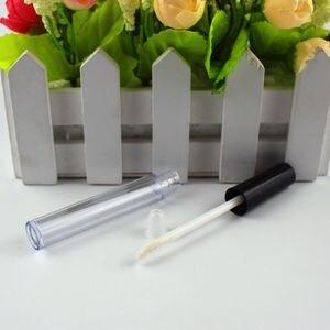 Image 3 - Tubo de brillo de labios de plástico, tubo de lápiz labial pequeño con contenedor de muestra de cosmético interior a prueba de fugas, 3ml, 0,8 ml, 50 unidades por lote