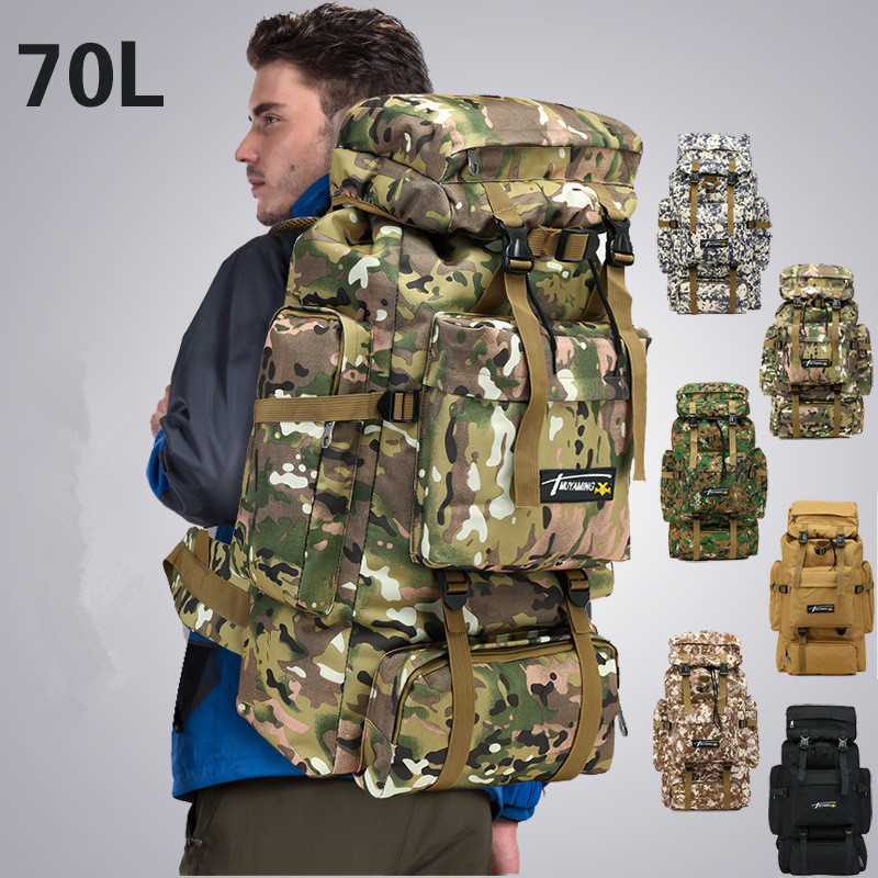 70L Tactical Bag Military Backpack Mountaineering Men Travel Outdoor Sport Bags Army Molle Backpacks Hunting Camping Rucksack