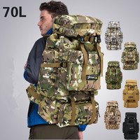 70L Tactical Bag Molle Military Backpack Mountaineering Men Travel Outdoor Sport Bags Backpacks Hiking Hunting Camping Rucksack
