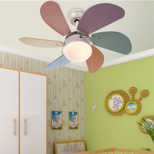 Ceiling Lights Colours Modern Brief Fashion Fan For Kids Room Led Light