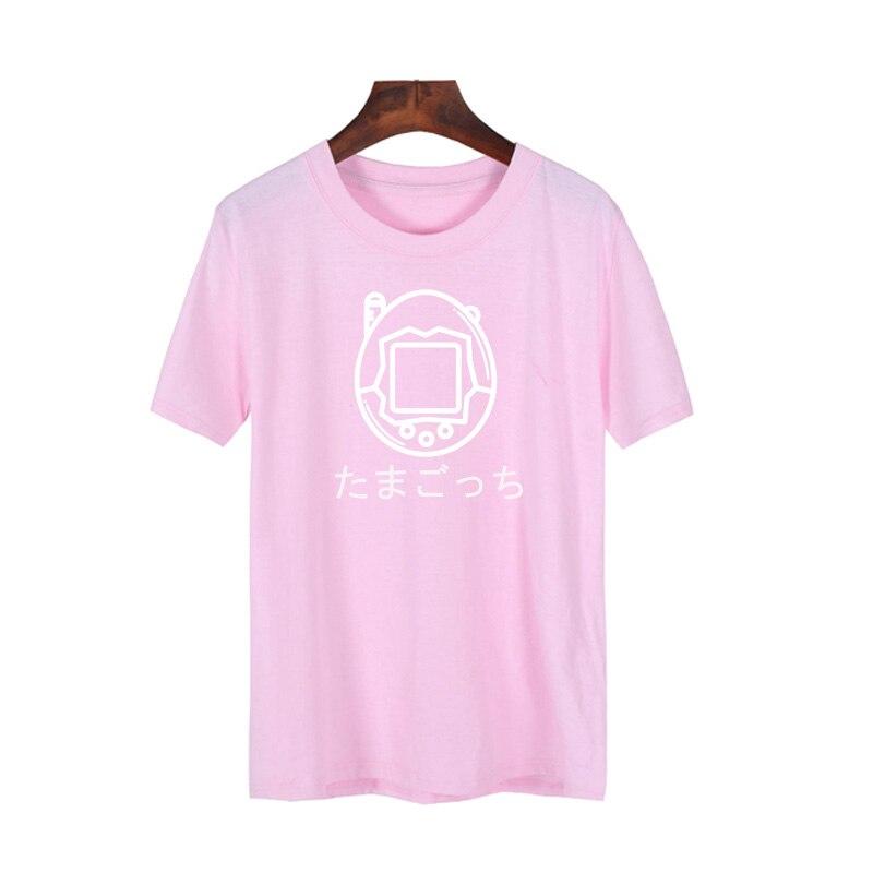 Pkorli Japanese Tamagotchi Toy T Shirt Men Women Casual Short Sleeve Gamer T-Shirt Hipster Funny Graphic Tee Shirt Femme S-XXXL