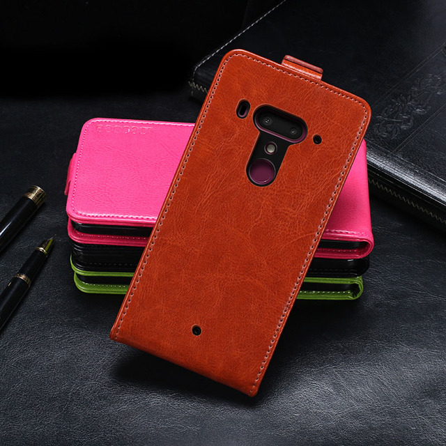 the best attitude 1ed2d 651c6 IDEWEI For HTC U12 Plus Case Cover Luxury Leather Flip Case For HTC U12+  Protective Phone Case Back Cover 6.0