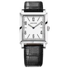 Agelocer Top marka ekskluzywna sukienka zegarek Luminous Quartz zegarki skórzany pasek zegarka zegarek ze stali 3403A1