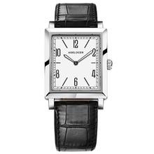 Agelocer, marca superior, reloj de vestir de lujo, relojes de cuarzo luminosos, reloj de correa de cuero, reloj de acero, 3403A1